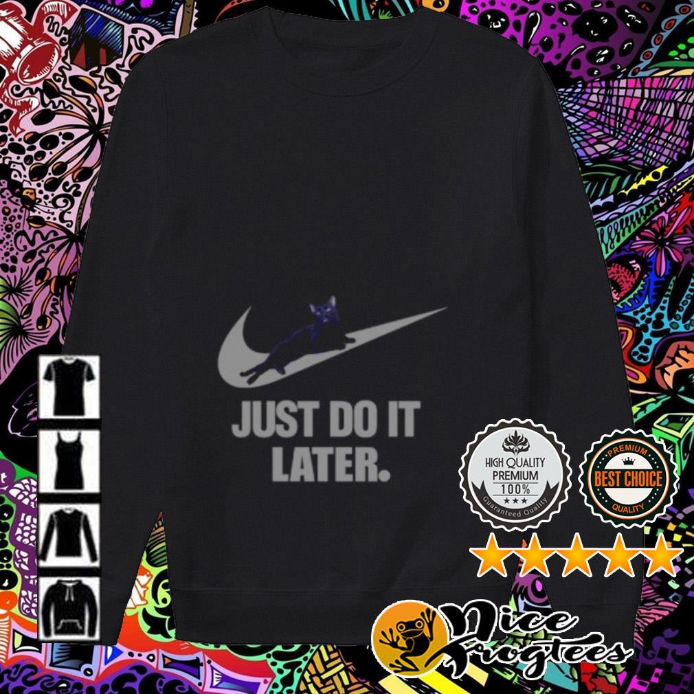 Nike Cat just do it later Sweater
