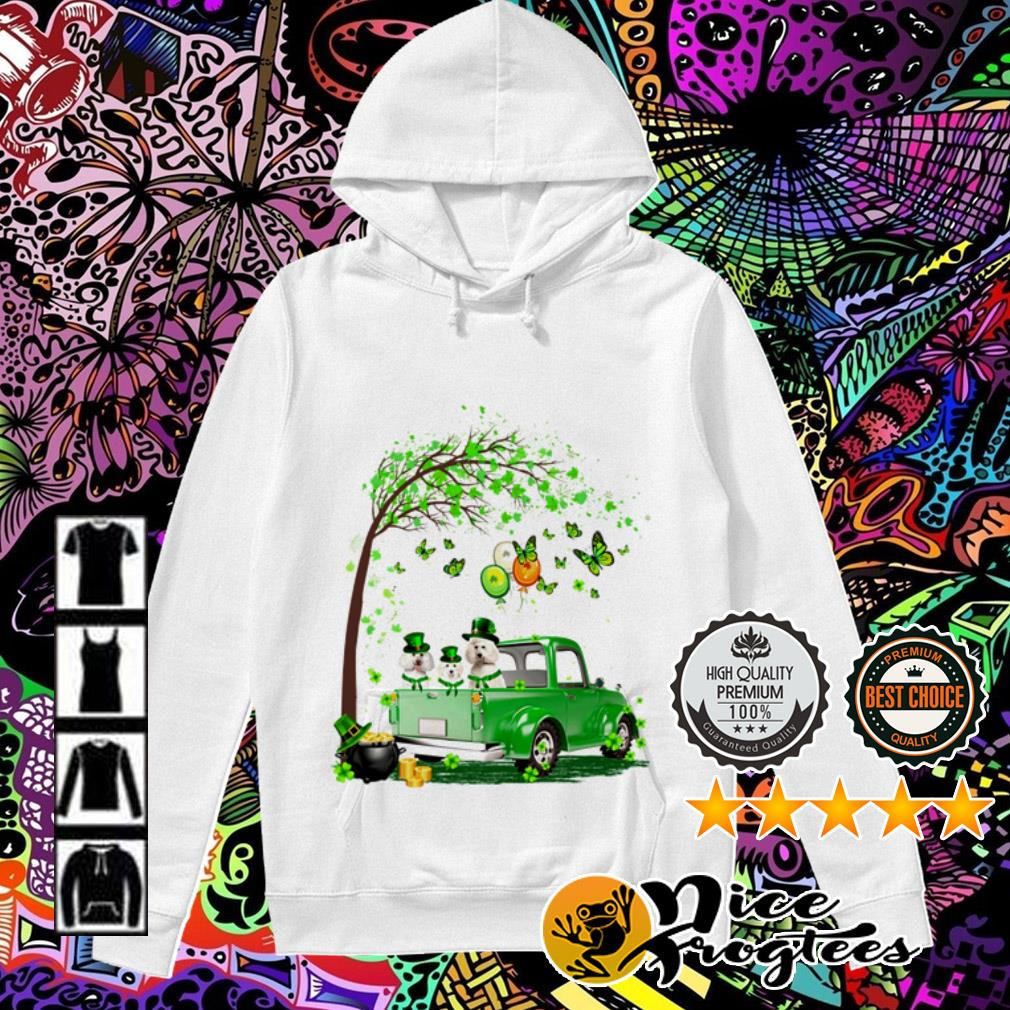 Poodle Truck St Patrick's Day Hoodie