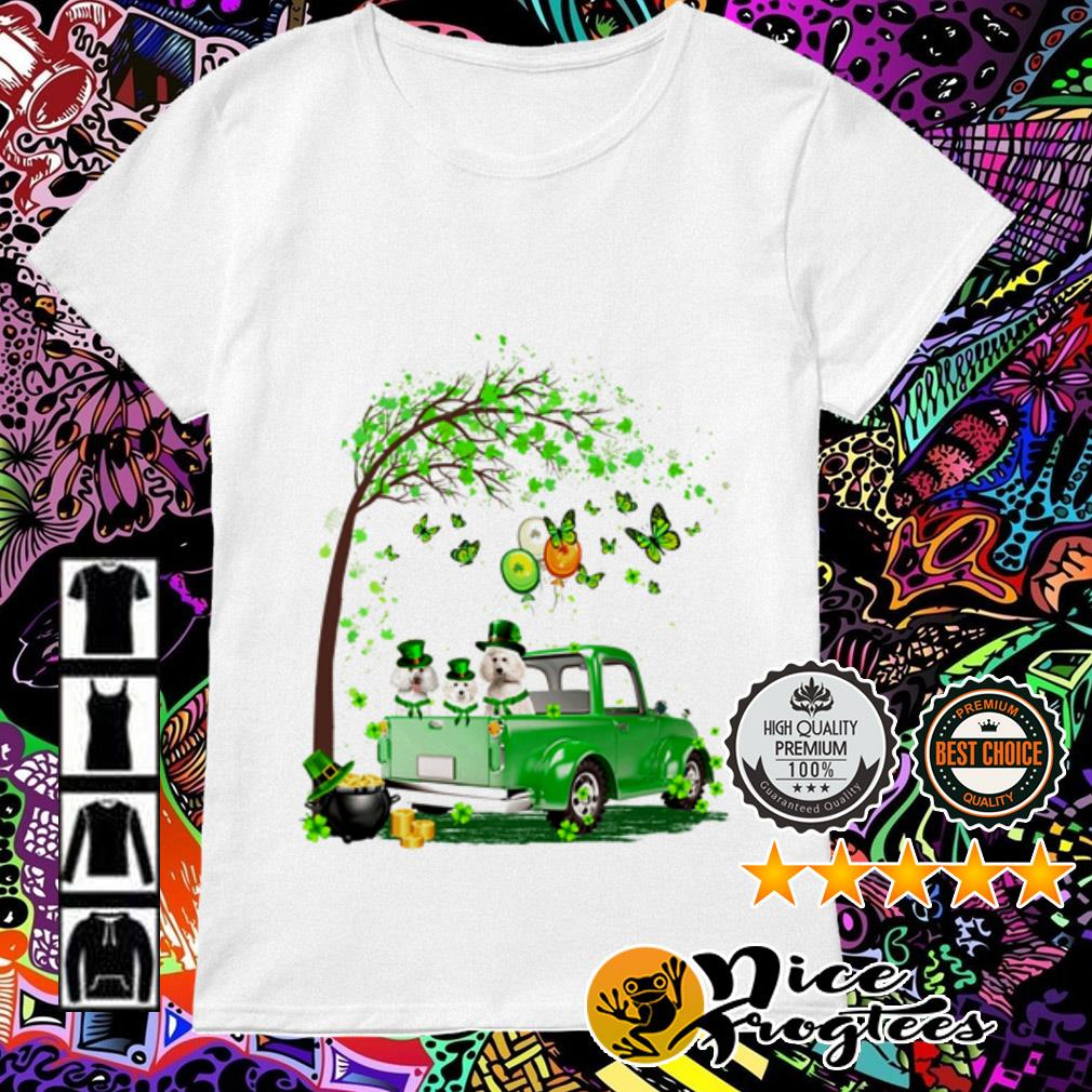 Poodle Truck St Patrick's Day Ladies Tee
