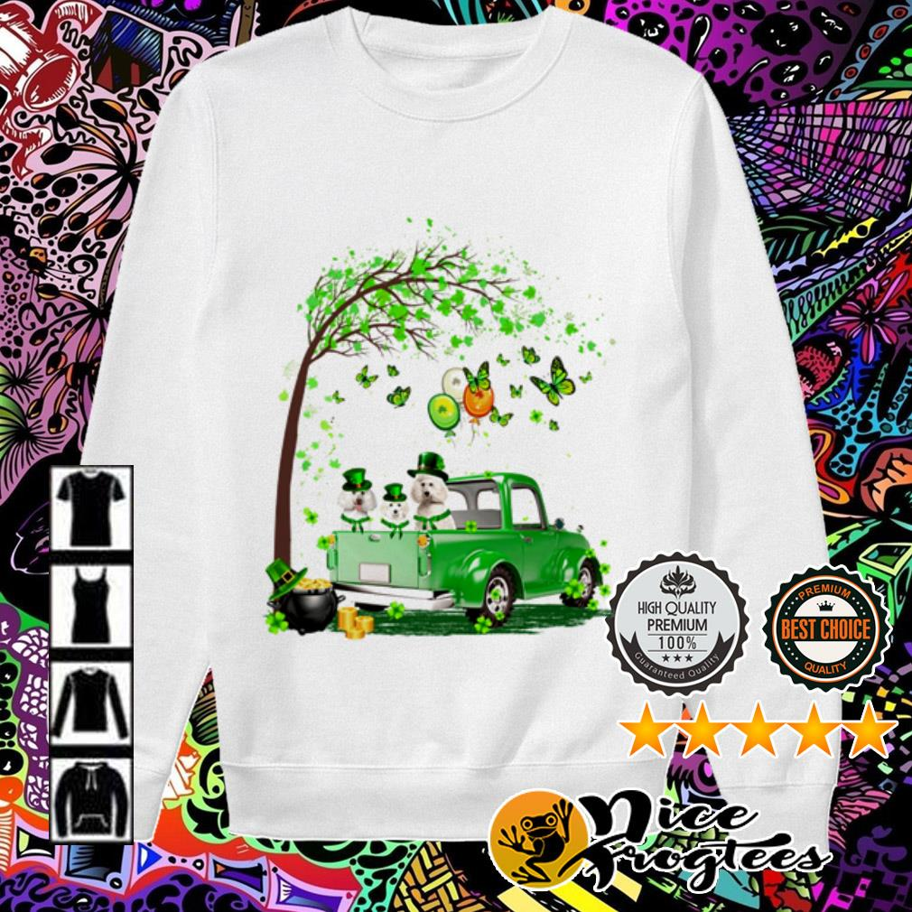 Poodle Truck St Patrick's Day Sweater