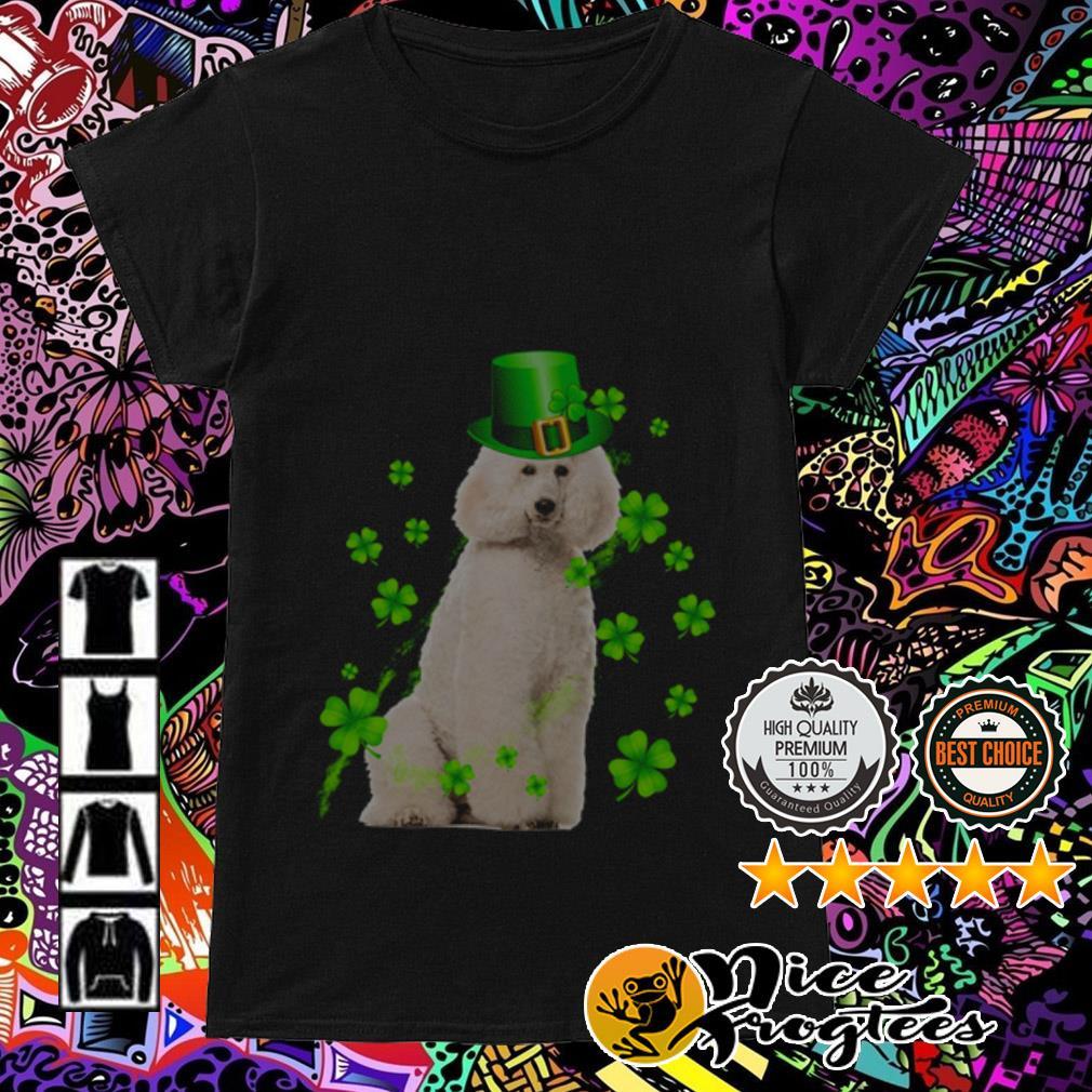 Poodle wearing hat Irish St. Patrick's Day Ladies Tee