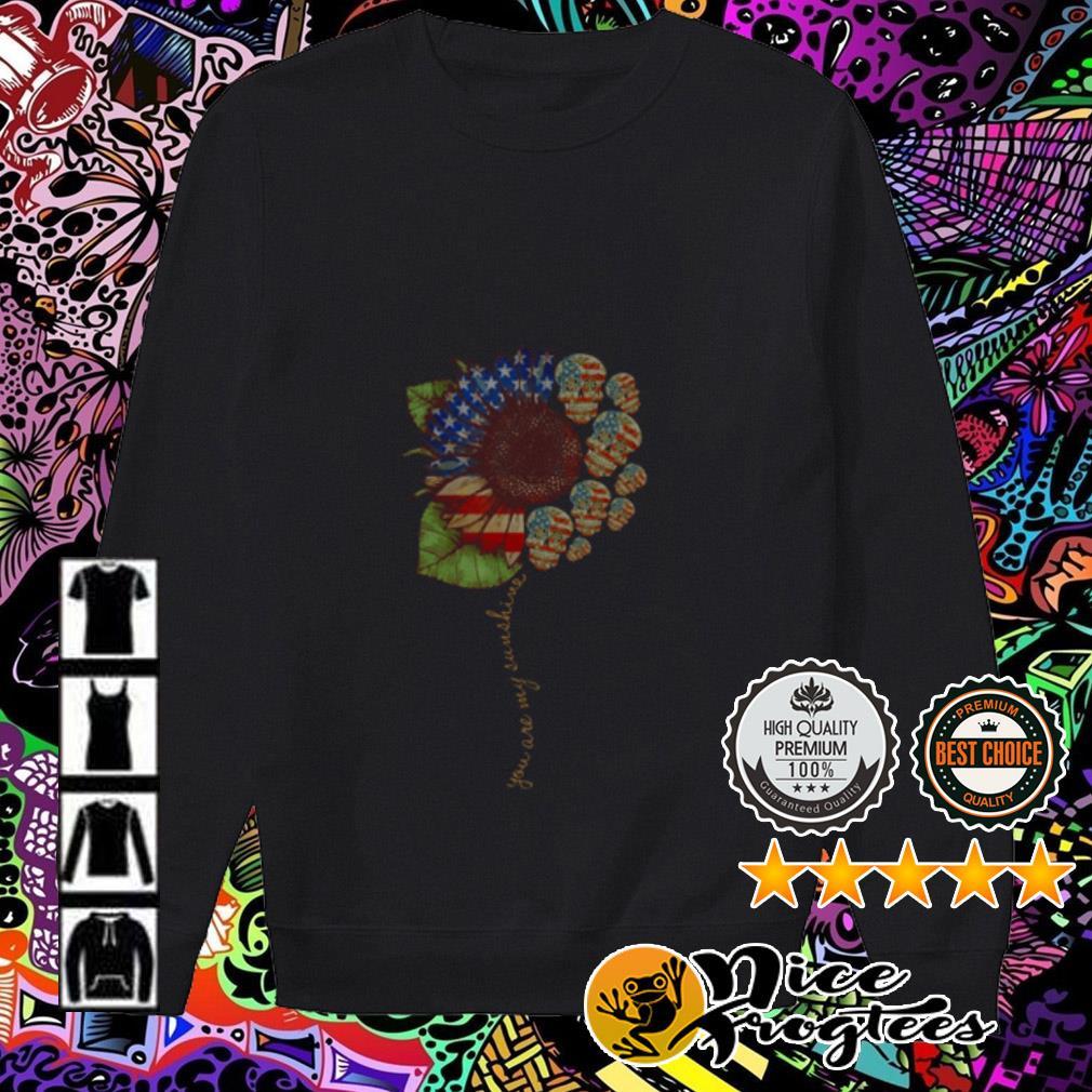 Sunflower skull American flag Sweater
