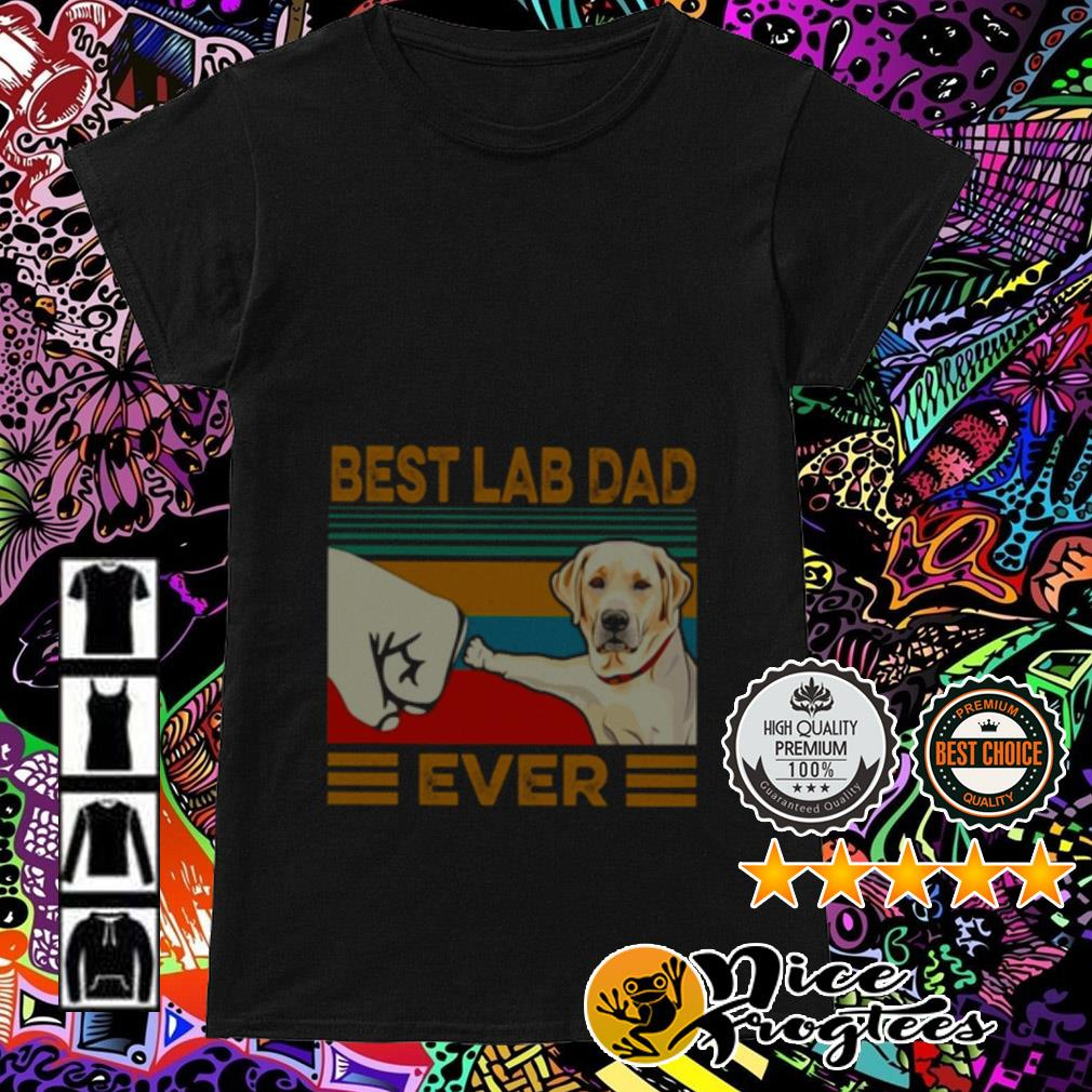 Vintage best Labrador Retriever dad ever Ladies Tee