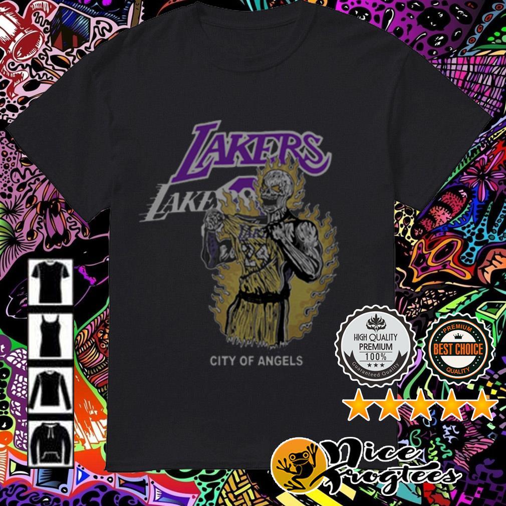 Warren Lotas Laker city of angels Los Angeles Lakers Kobe Bryant shirt