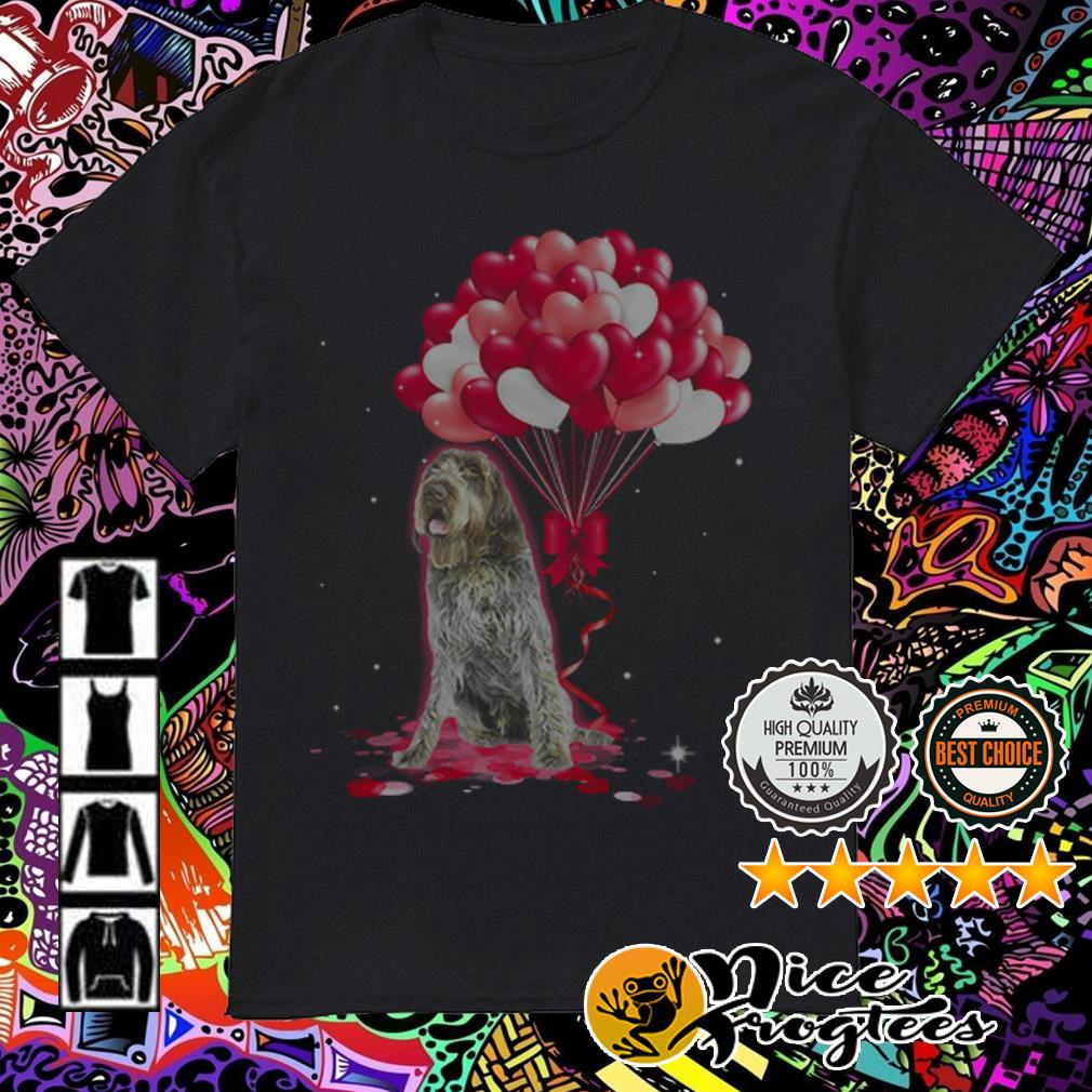 Wirehaired Pointing Griffon love balloons Shirt