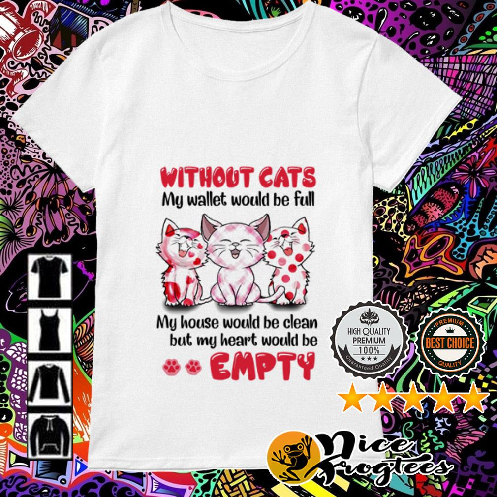 Without cats my wallet would be full my house would be clean but my heart Ladies Tee