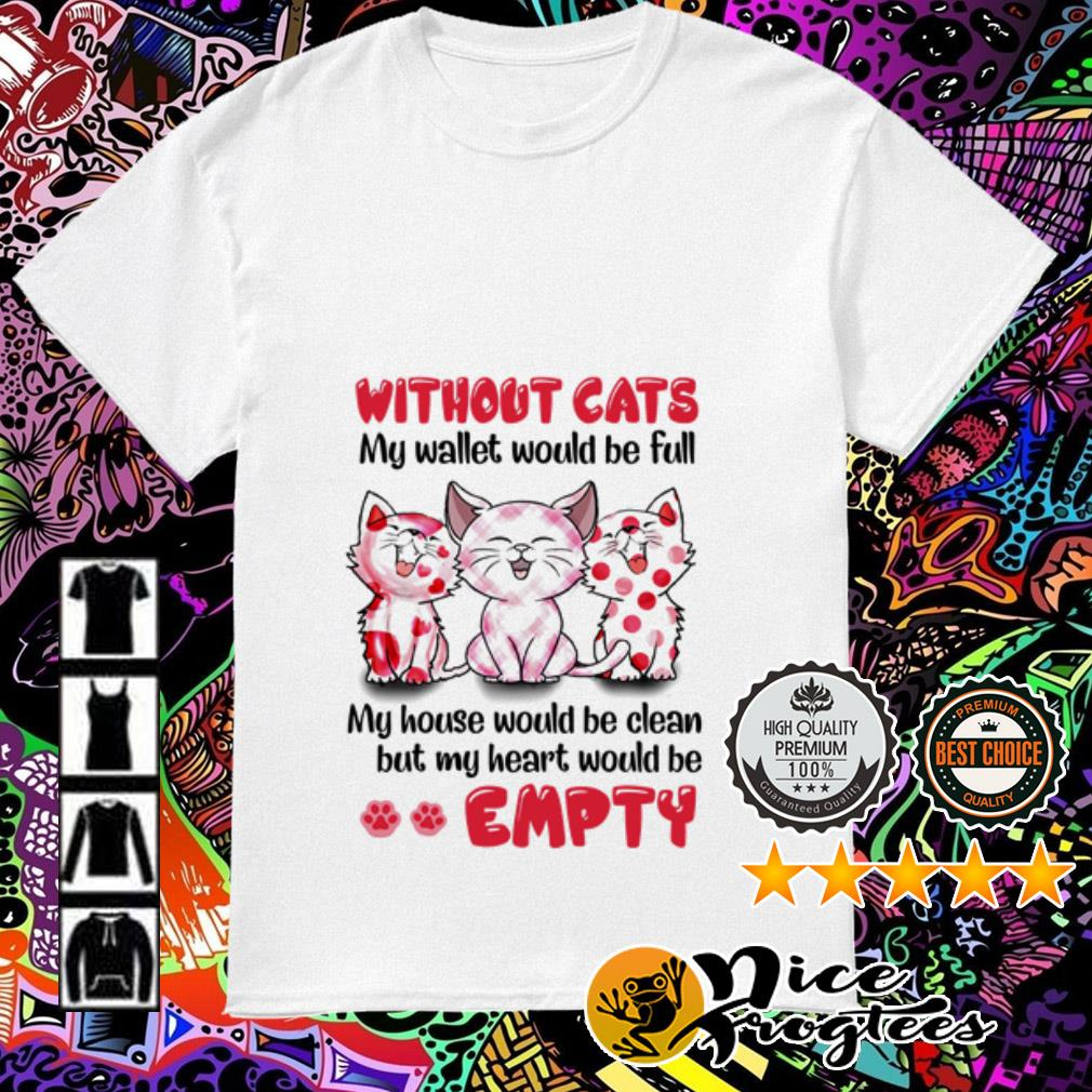 Without cats my wallet would be full my house would be clean but my heart shirt