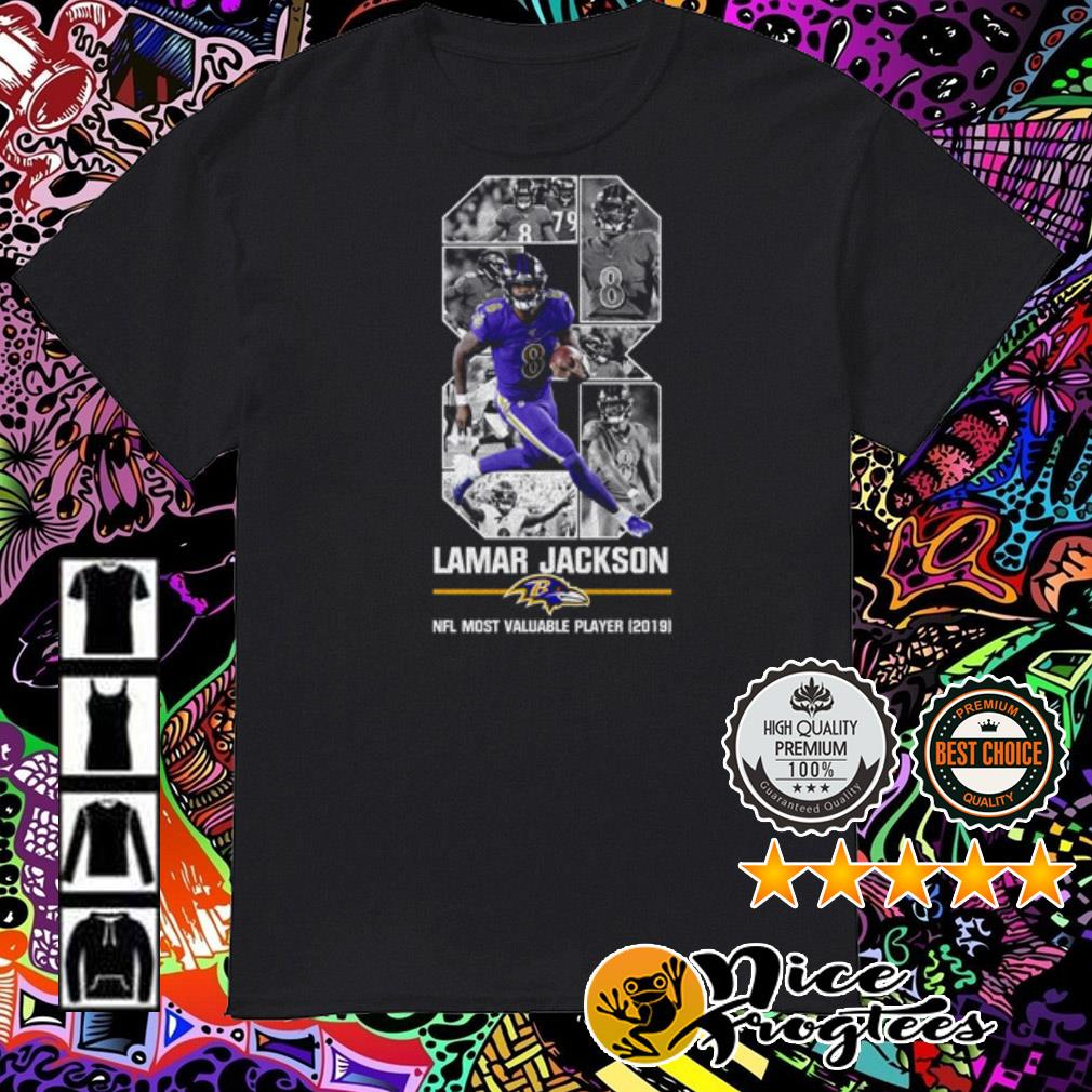 Ladies 08 Lamar Jackson Baltimore Ravens NFL Most Valuable Player 2019 shirt