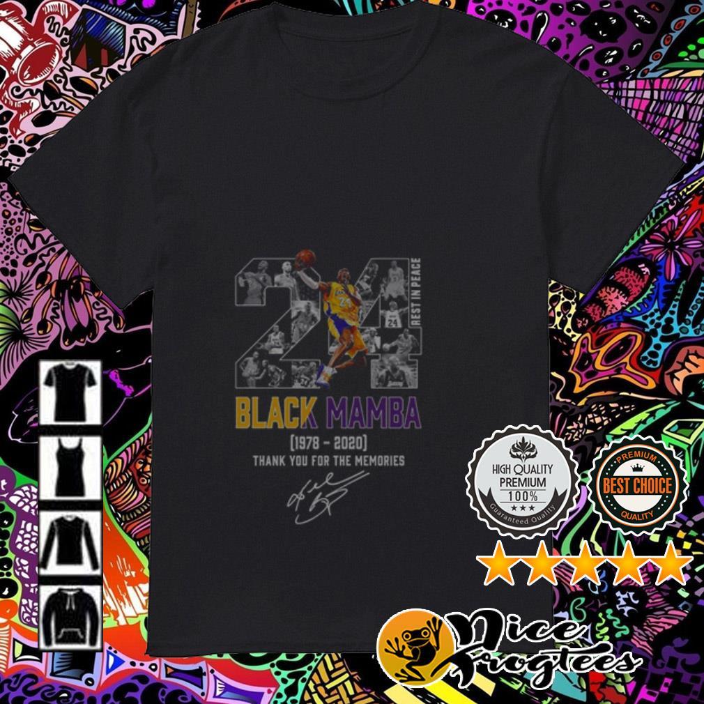 24 Rip Kobe Bryant Black Mamba 1978-2020 thank you for the memories signature shirt