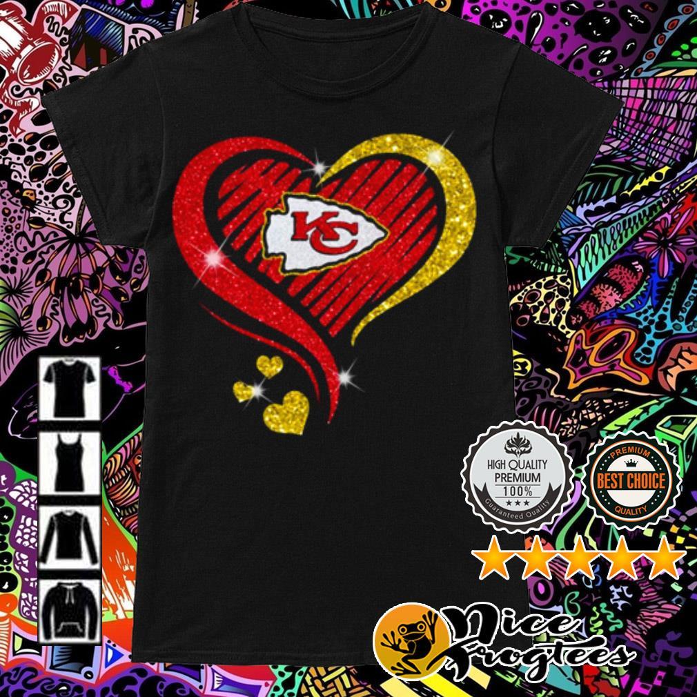 Diamond heart Kansas City Chiefs Ladies Tee
