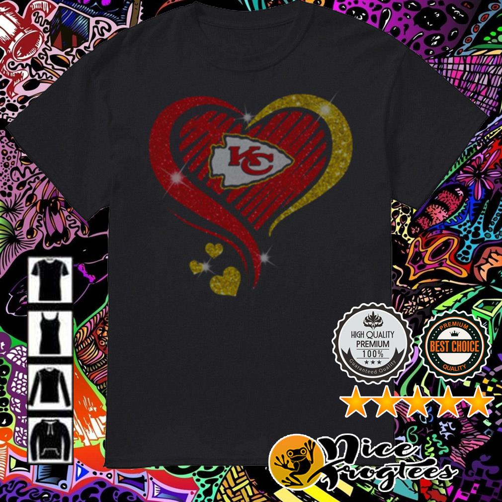 Diamond heart Kansas City Chiefs shirt