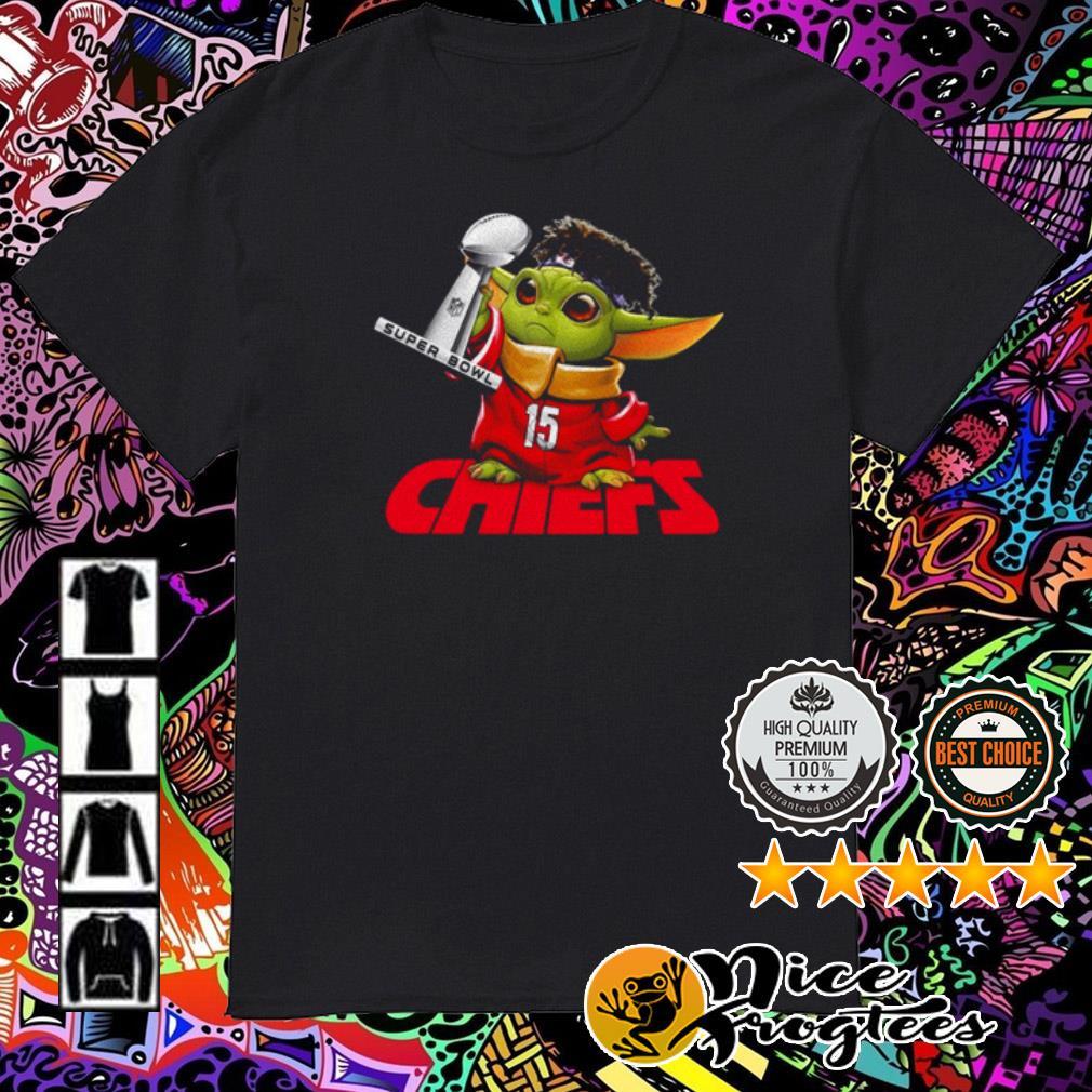 Kansas City Chiefs Baby Yoda hold Super Bowl Champion shirt