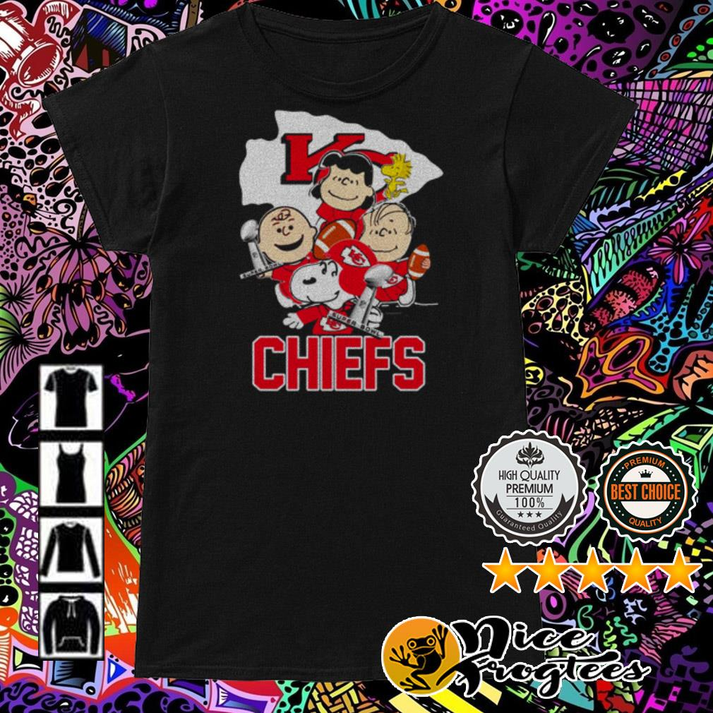 Kansas City Chiefs Charlie Brown and Friends Champions super bowl Ladies Tee