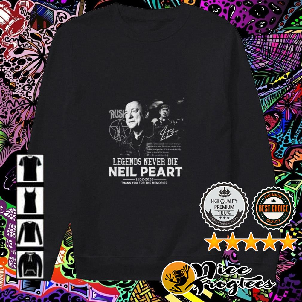 Legend never die Neil Peart 1952-2020 thank you for the memories Sweater