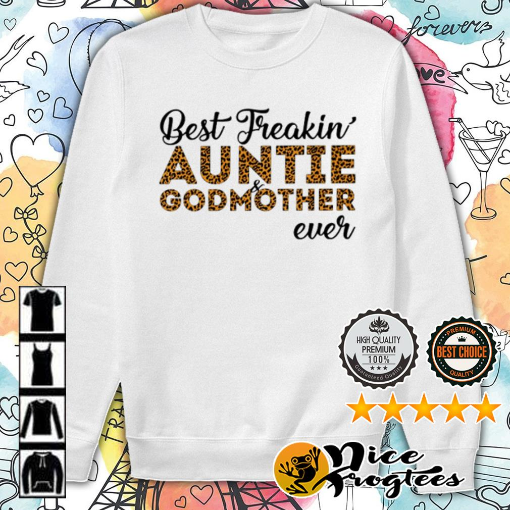 Leopard best freakin' auntie and godmother ever shirt