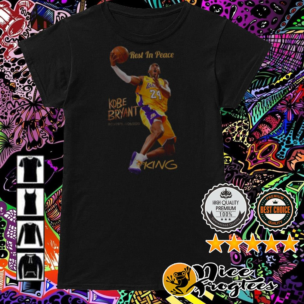 Rest in peace Kobe Bryant 1978-2020 King Ladies Tee