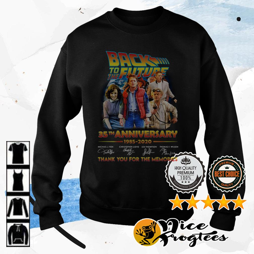 Back to the Future 35th anniversary 1985 2020 thank you for the memories shirt