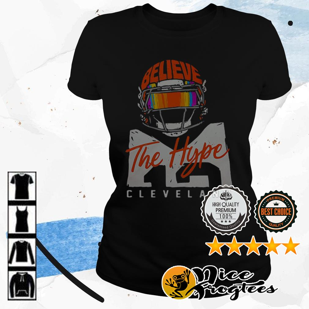 Believe The Hype Cleveland football shirt