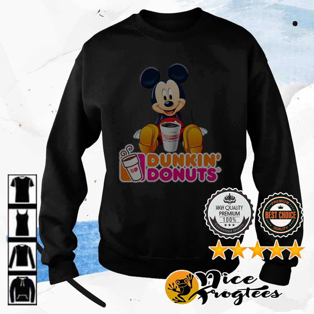 Disney Mickey Mouse Dunkin' donuts shirt