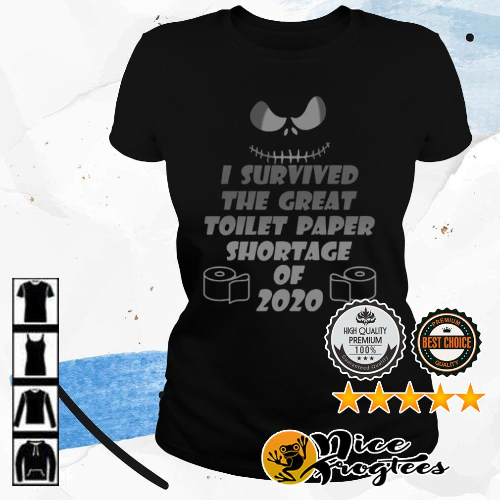 Jack Skellington I survived the great toilet paper shortage of 2020 shirt