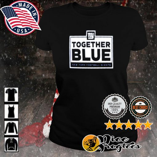 Together blue New York Football Giants s ladies-tee