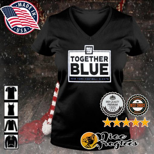 Together blue New York Football Giants s v-neck-t-shirt