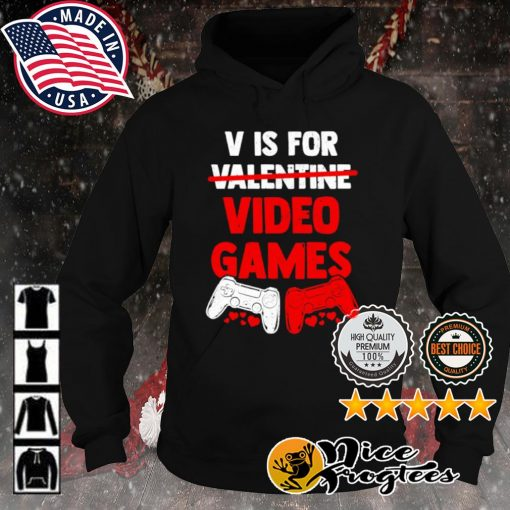 V is for valentine video game s hoodie