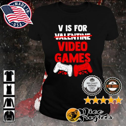 V is for valentine video game s ladies-tee