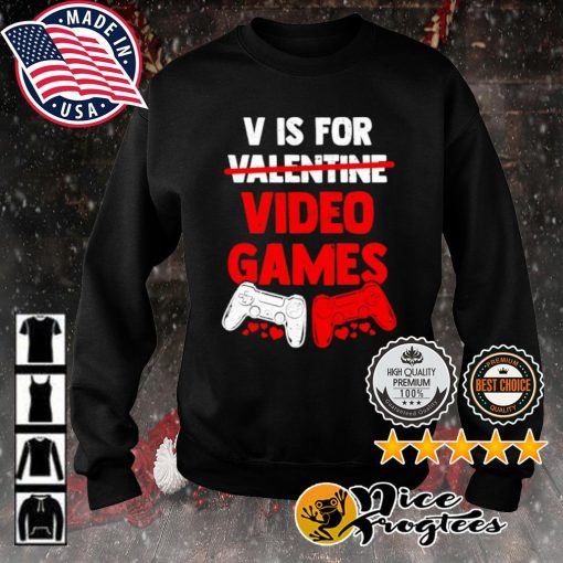 V is for valentine video game s sweater