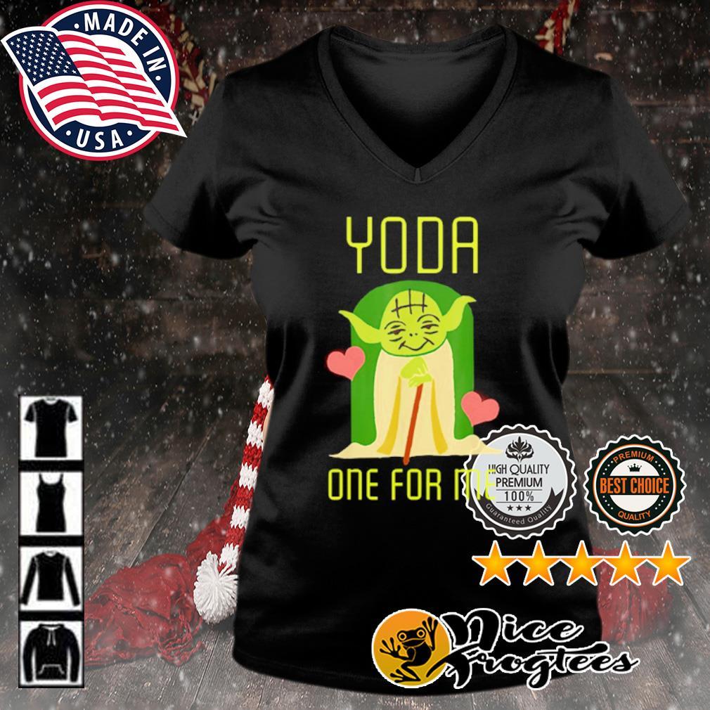 Valentine Yoda one for me s v-neck-t-shirt