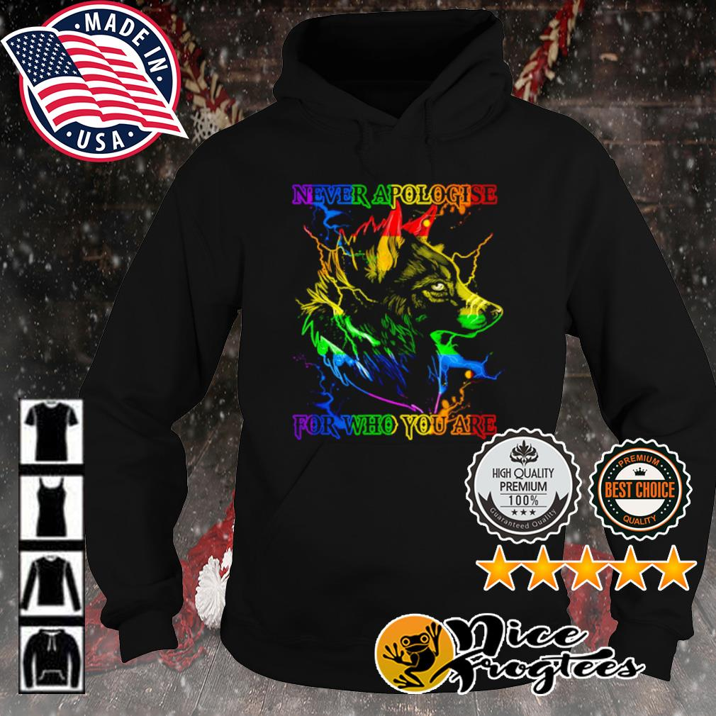 Wolf never apologise for who you are s hoodie