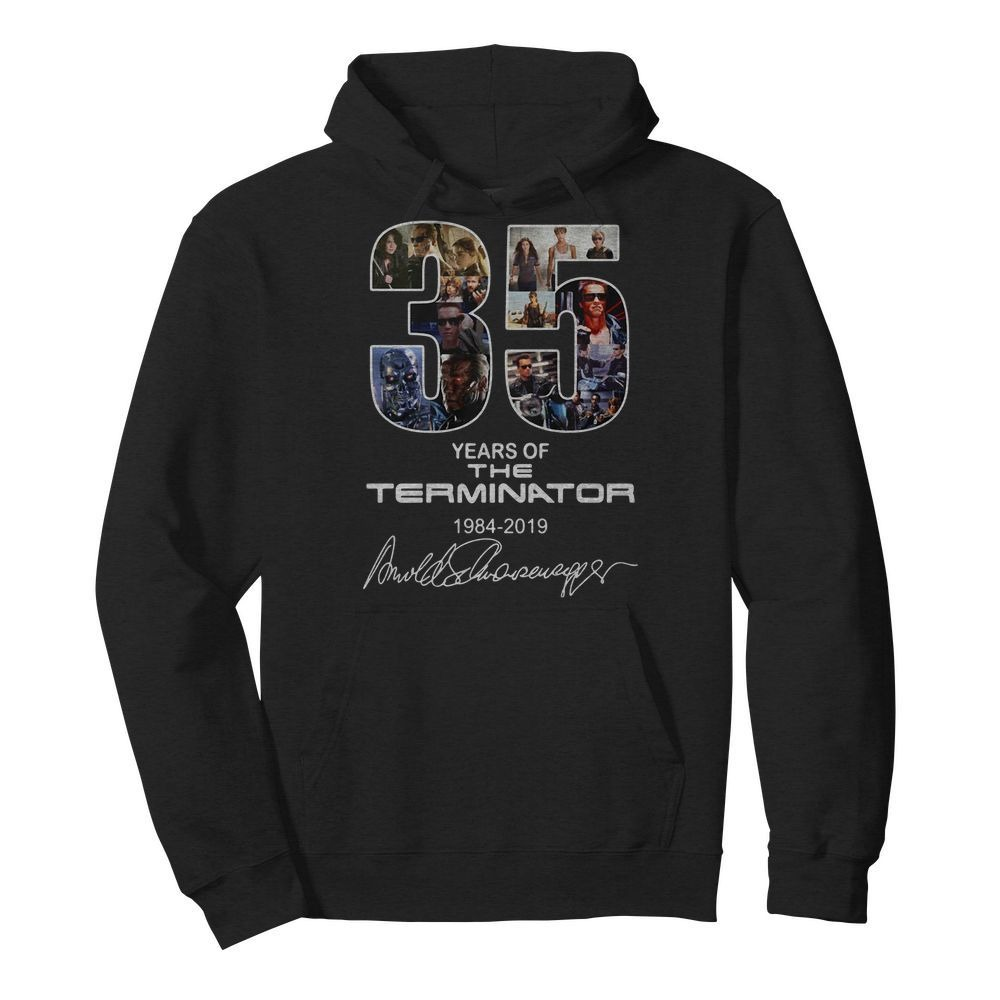 35 Years of the Terminator 1984-2019 signatures Hoodie