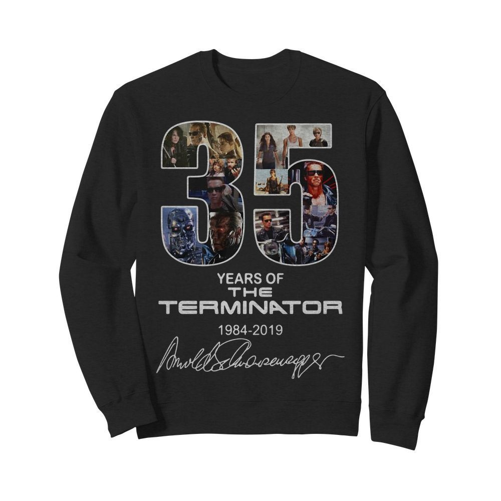 35 Years of the Terminator 1984-2019 signatures Sweater