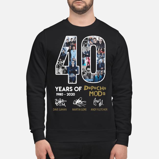40 years of Depeche Mode Dave Gahan Martin Gore Andy Fletcher signature Sweater