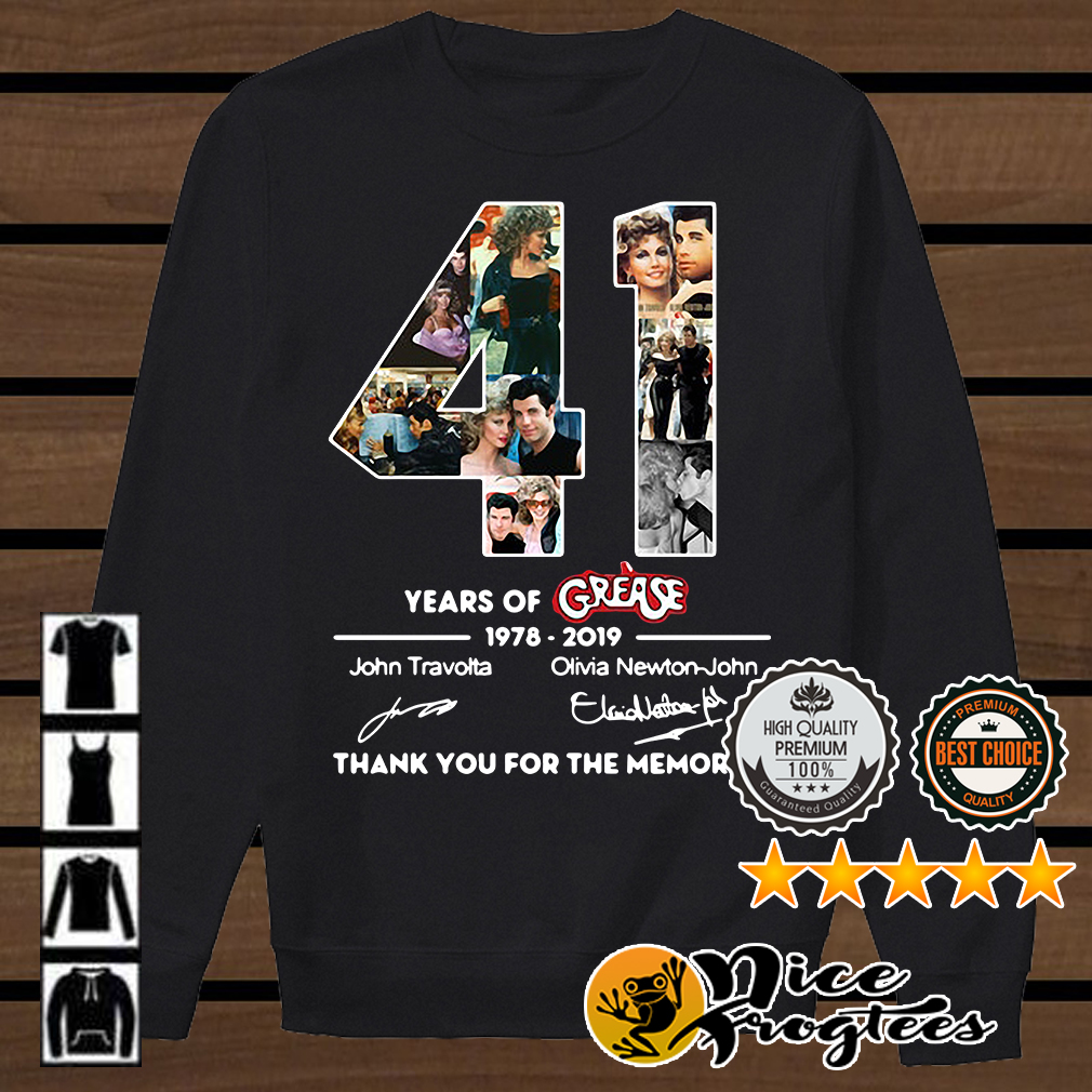 41 years of Grease 1978 2019 signature thank you for the memories shirt