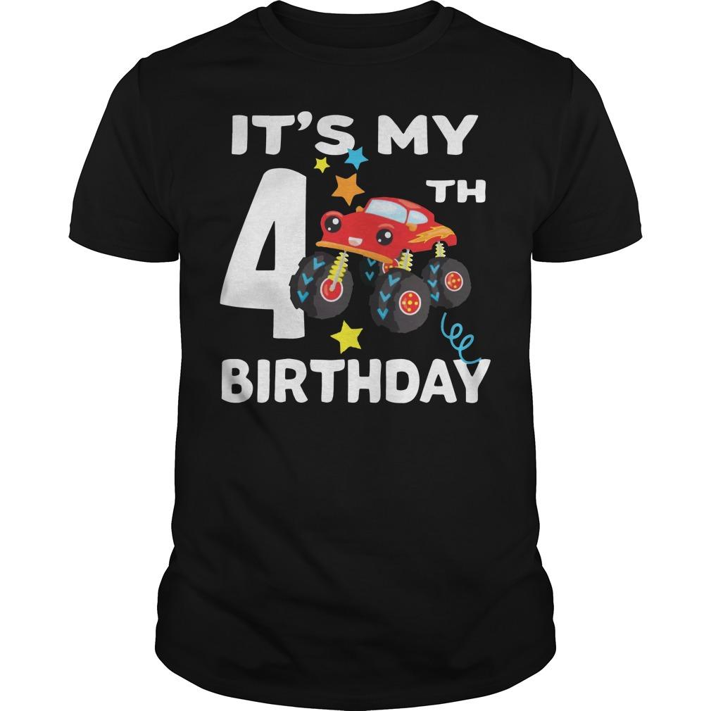 It's my 4th Car birthday shirt