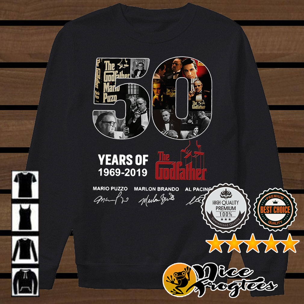 50 years of The Godfather 1969 - 2019 Signature shirt