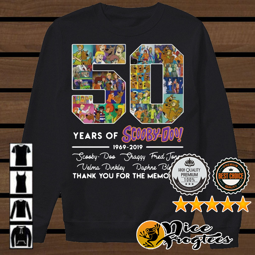 50 Years of Scoopy-Doo 1969-2019 thank you for the memories signatures shirt