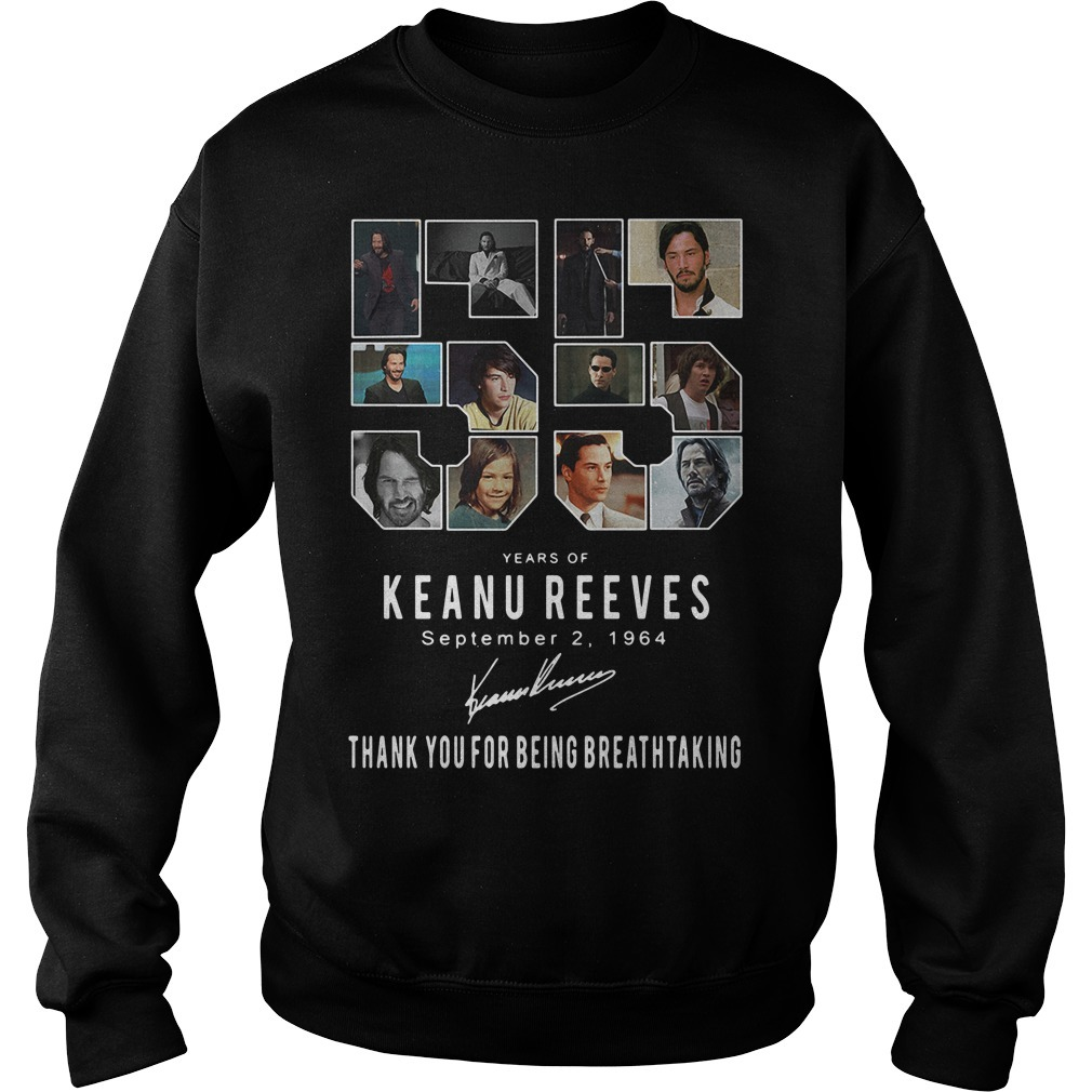55 Years of Keanu Reeves September 2 1964 signatures Sweater