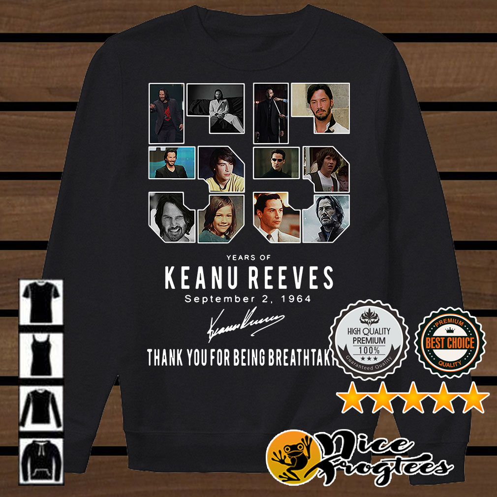 55 Years of Keanu Reeves September 2 1964 signatures shirt