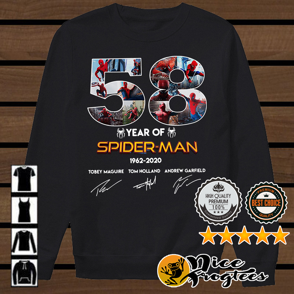 58 year of Spider-Man 1962 2020 signature shirt