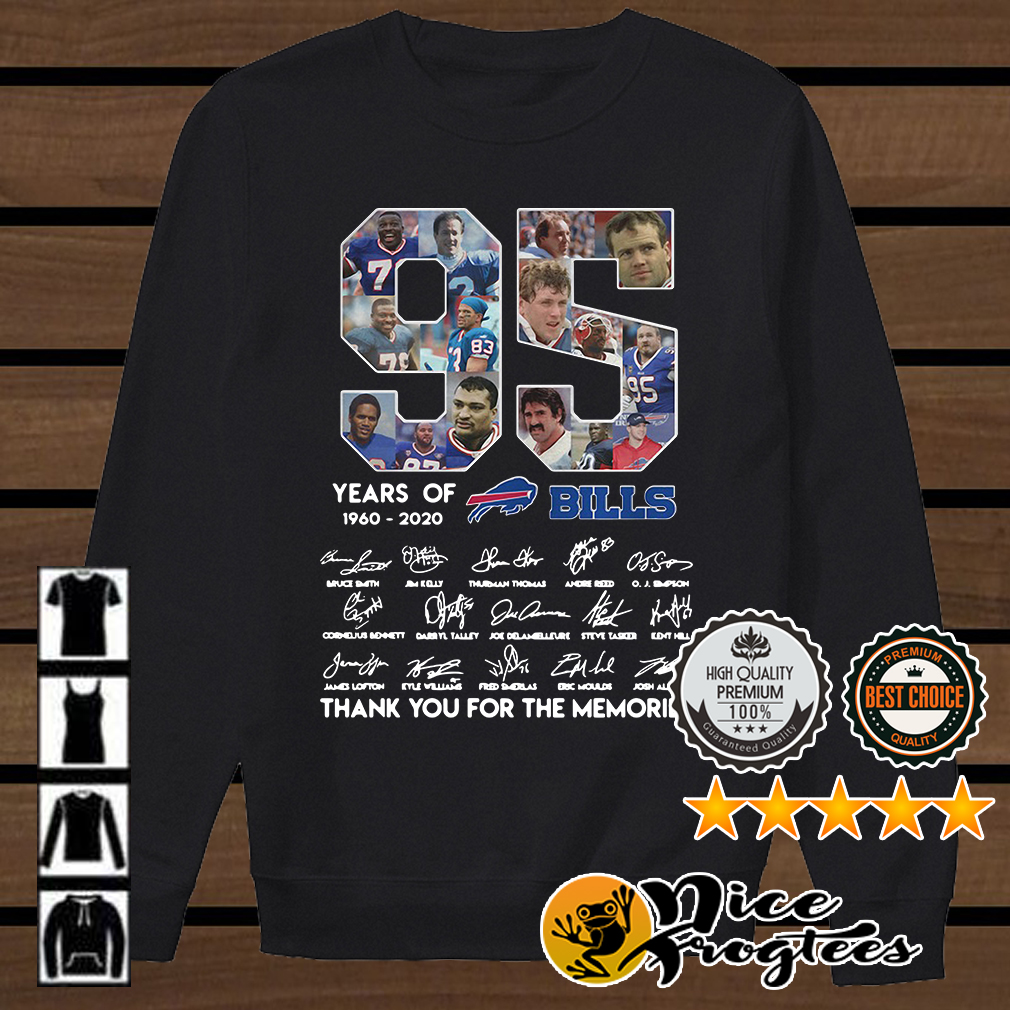 95 years of New York Giants 1925 2020 signature thank you for the memories shirt