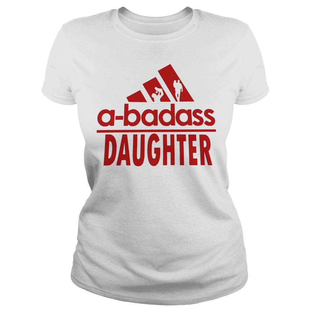 A-badass daughter adidas Ladies tee