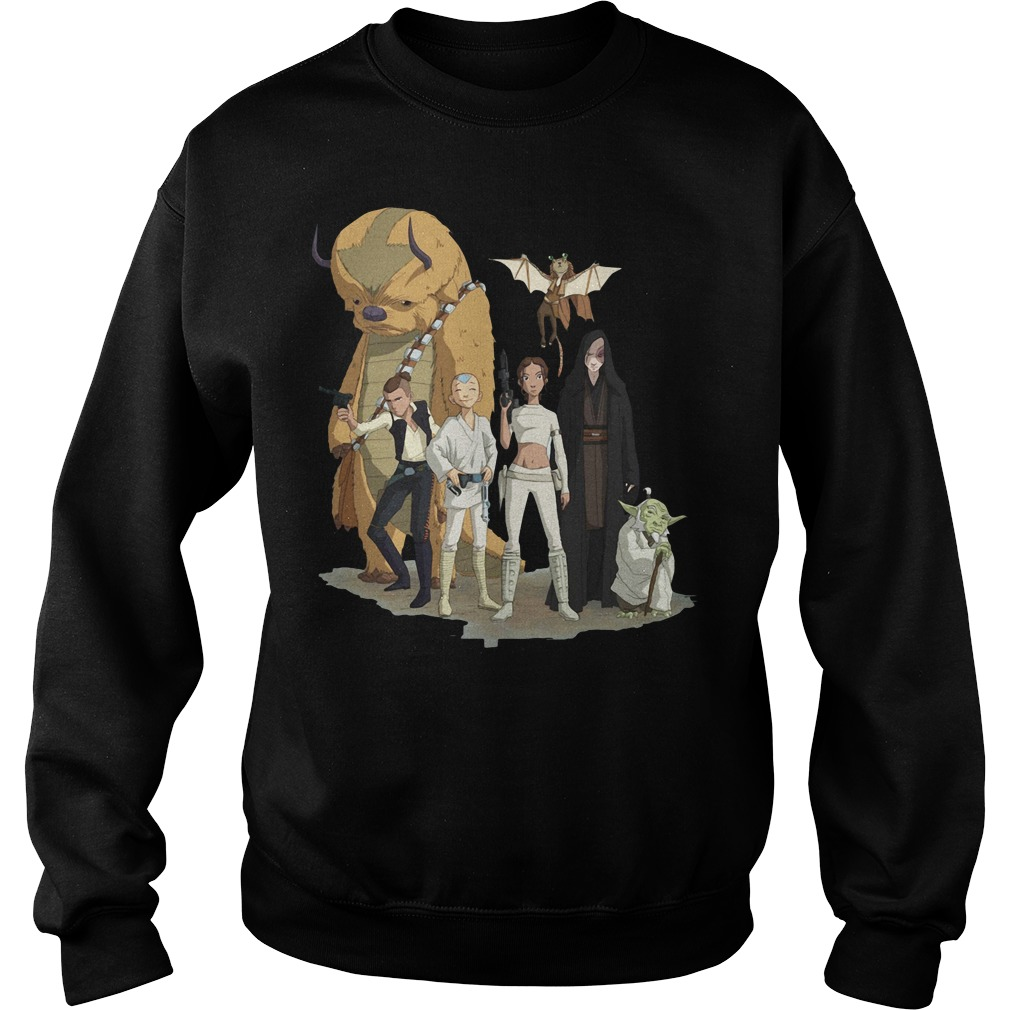 Aang Katara Sokka Zukko Momo Star wars Sweater