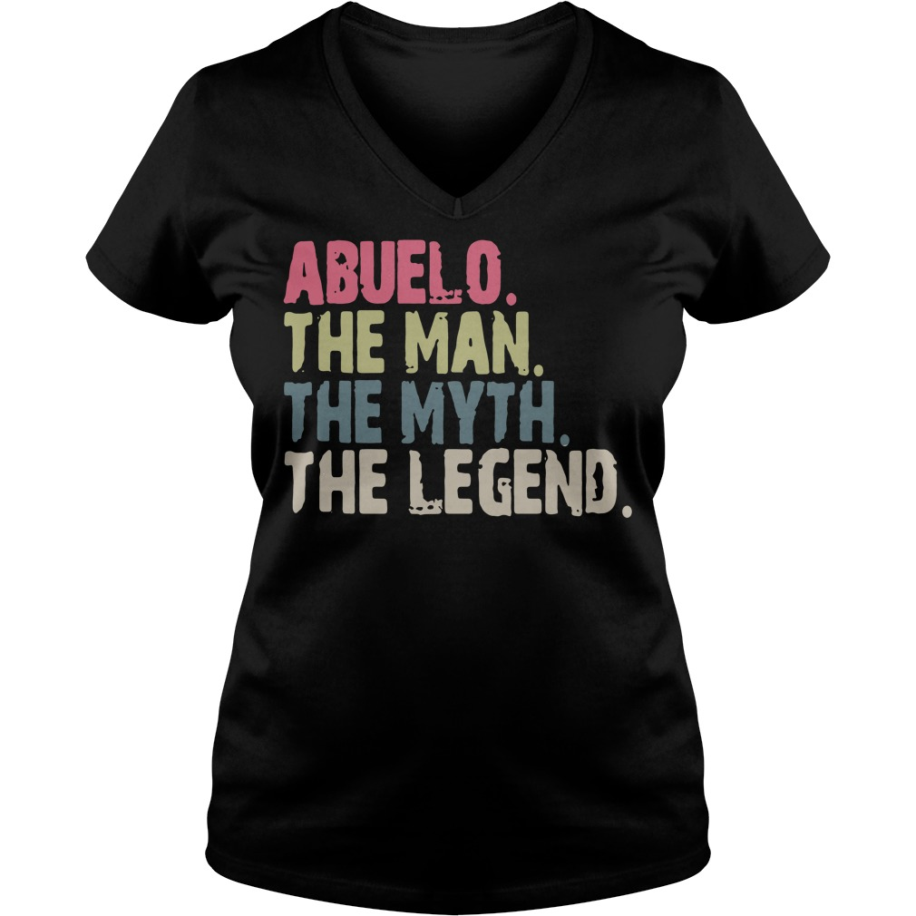 Abuelo the man the myth the legend V-neck t-shirt