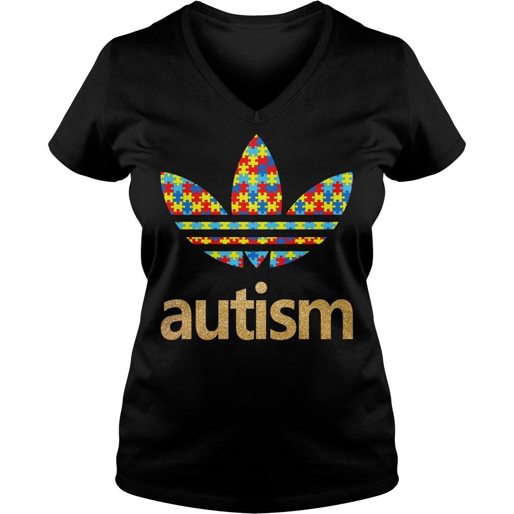 Adidas autism V-neck t-shirt
