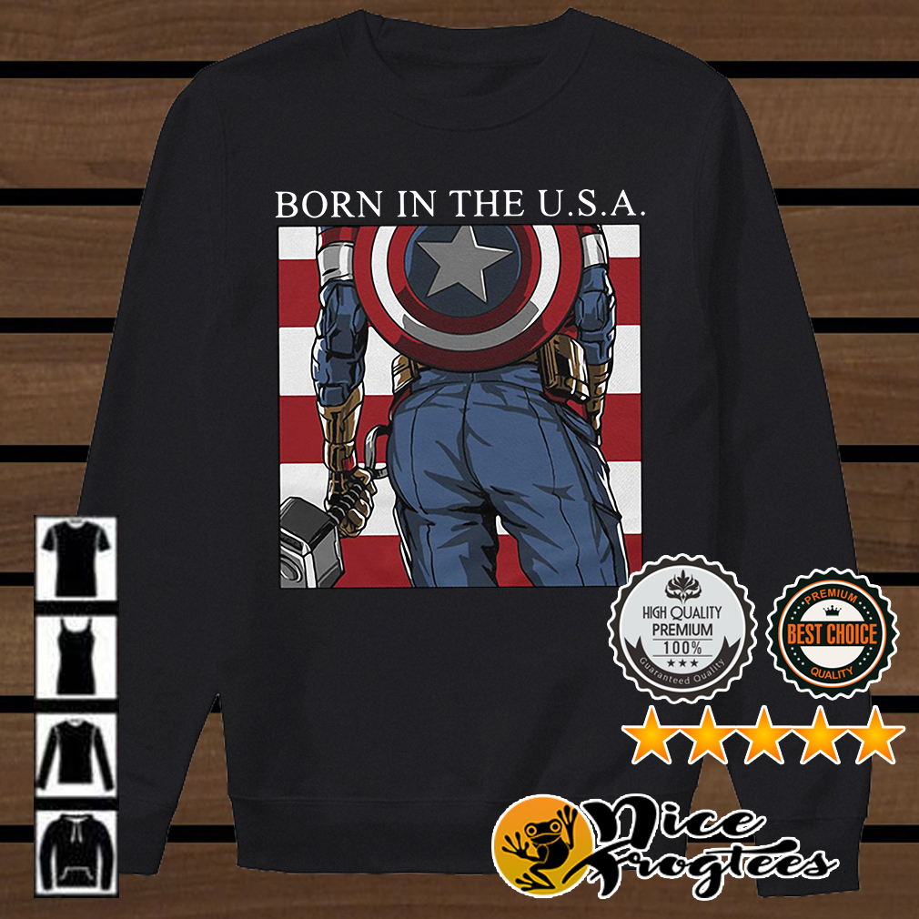 America Captain born in the USA Marvel shirt
