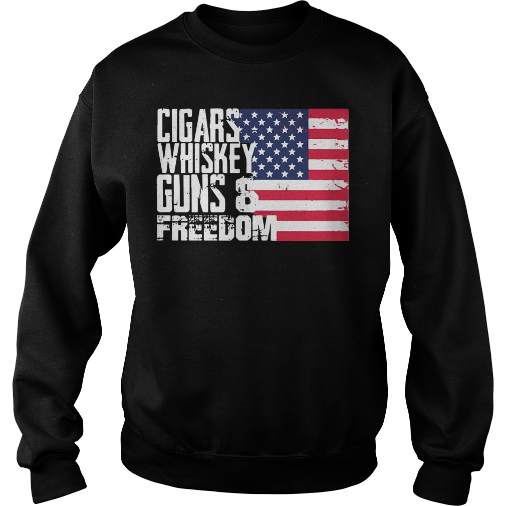 America Independence Day - Cigars Whiskey Guns and Freedom Sweater
