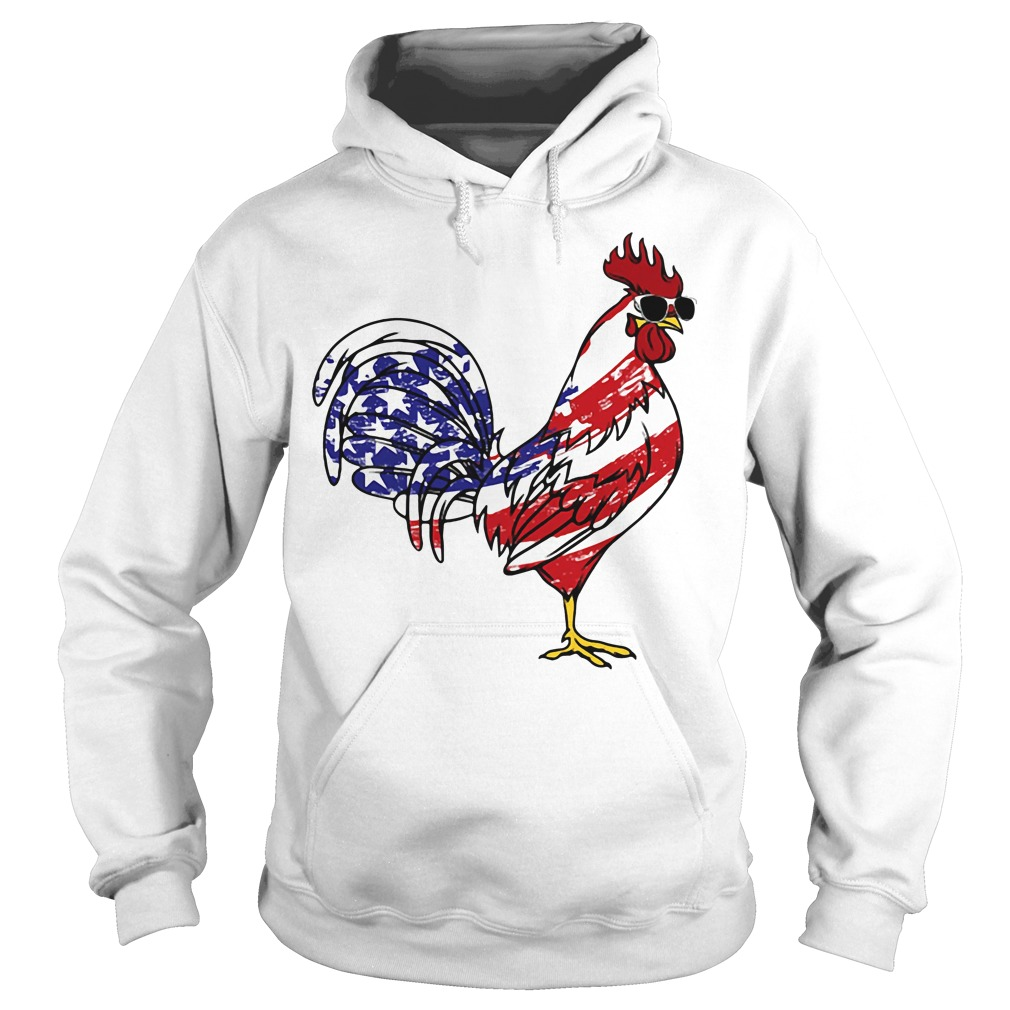 American Flag Chicken Independence Day Hoodie