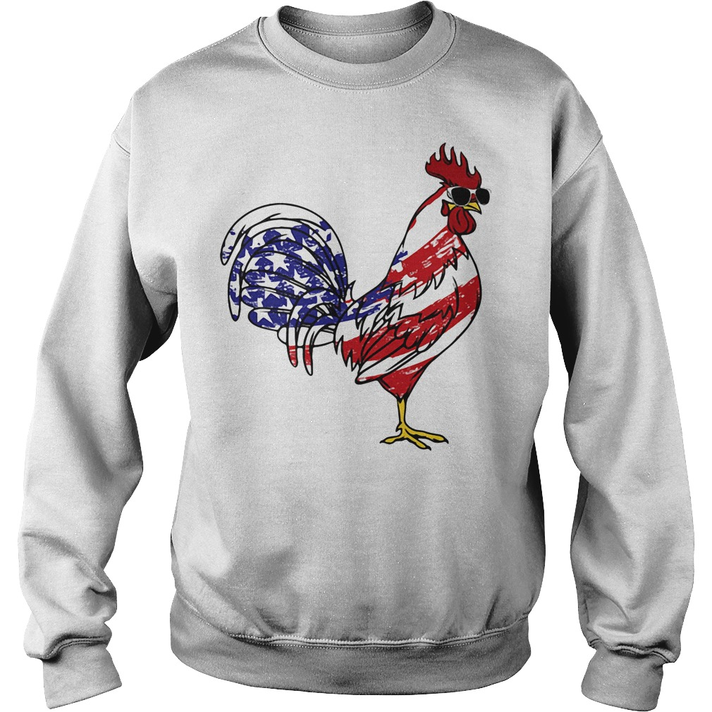 American Flag Chicken Independence Day Sweater